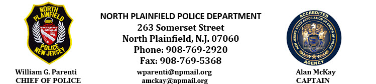 North Plainfield Police Department, NJ Public Safety Jobs