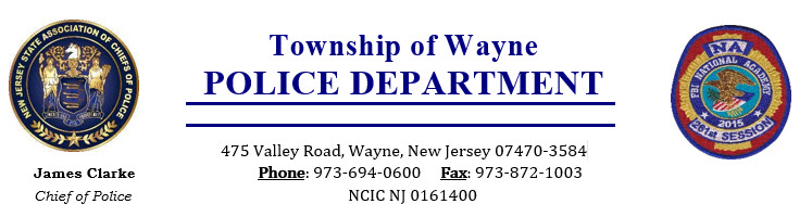 Wayne Police Department, NJ Public Safety Jobs