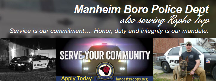 Manheim Borough Police Department, PA Public Safety Jobs