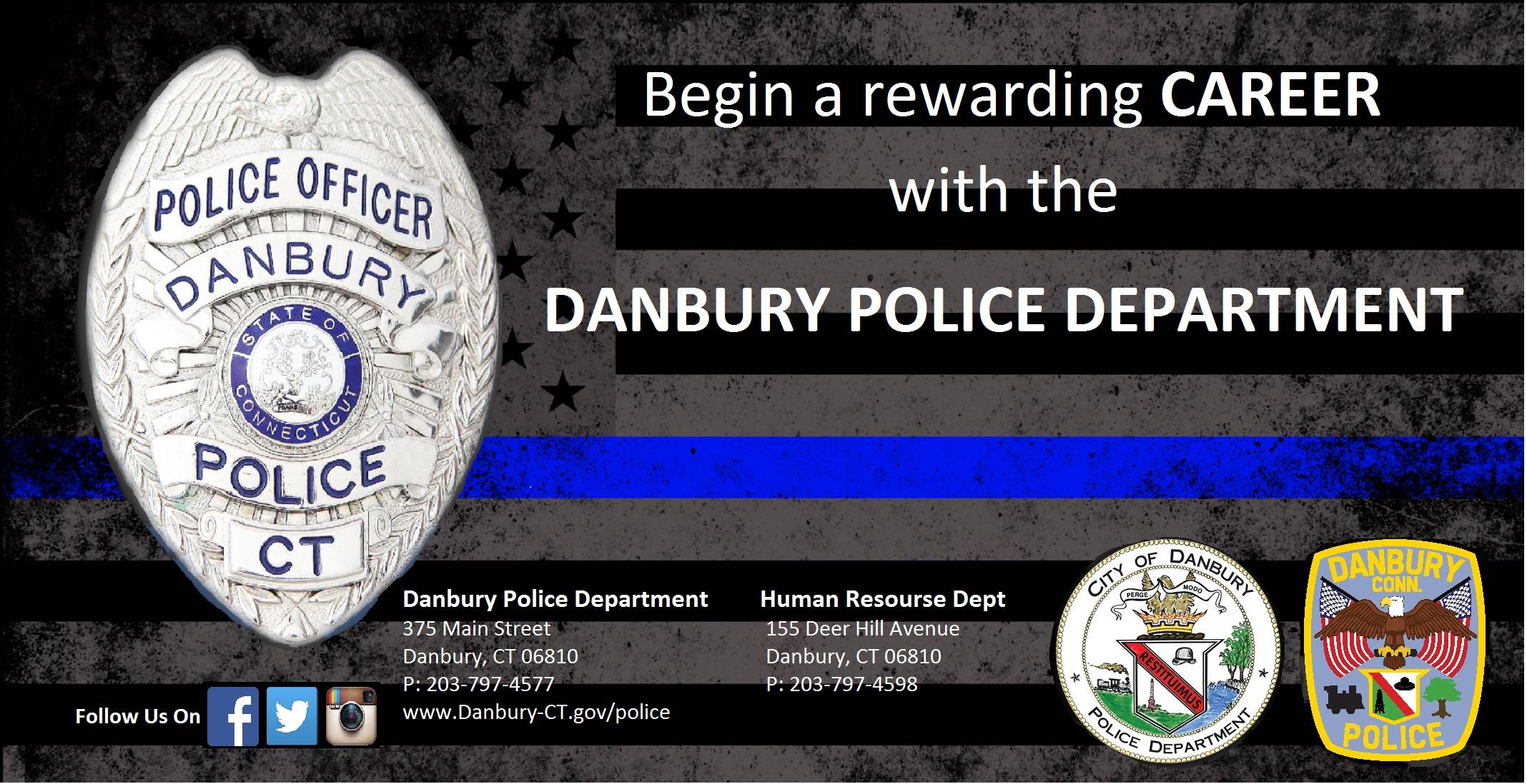 Danbury Recruitment Team, CT Police Jobs - Entry Level