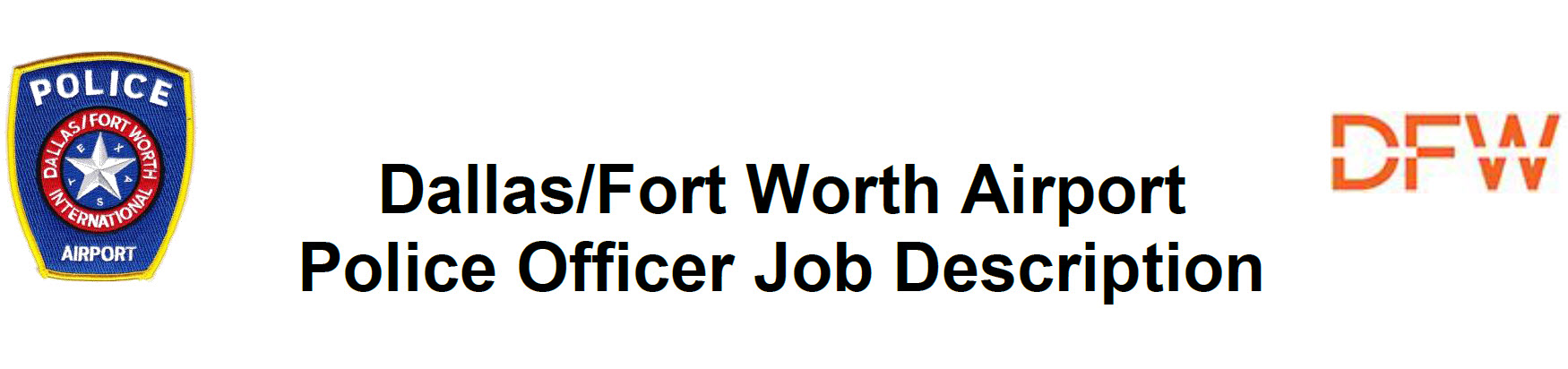 Dallas/Fort Worth Airport Department of Public Safety, TX Public Safety Jobs
