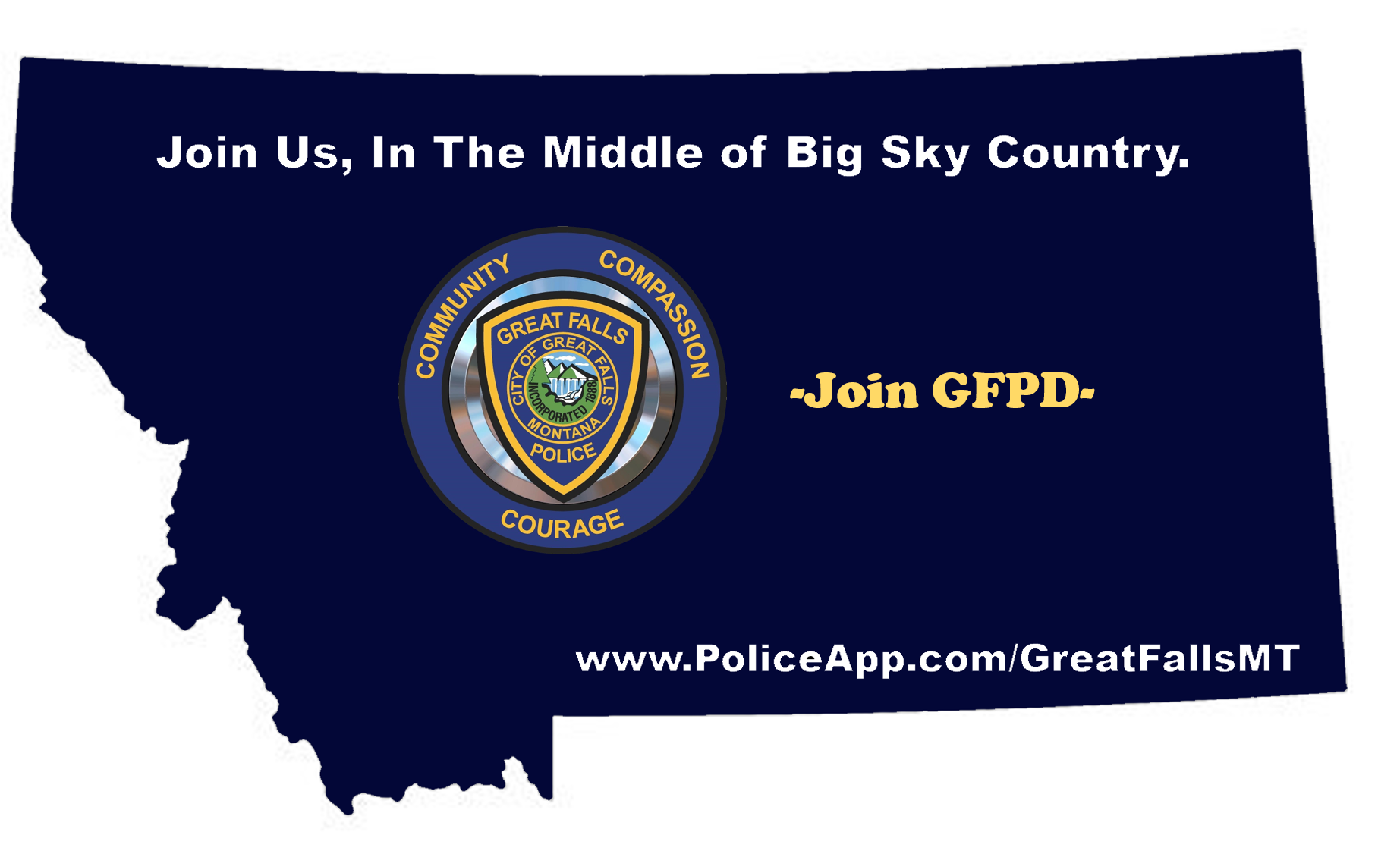 Great Falls Police Department, MT Public Safety Jobs